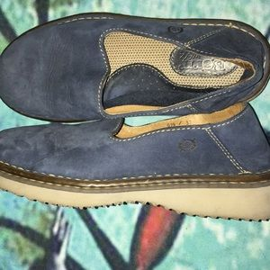 Born Brand 6 1/2 Denim Blue Leather
